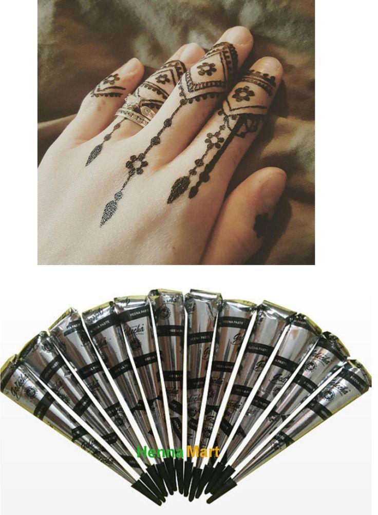 Henna Tattoo Henna design easy Henna Tattoo ideas Instant Black Henna Cones Temporary Tattoo Design Herbal Henna Ink