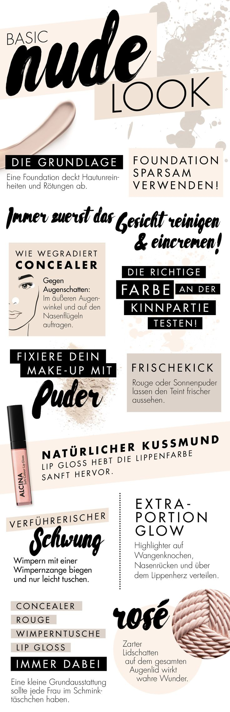 Was darf in eurem Make-up Täschchen nicht fehlen und welche Produkte benötigt man für den Nude Make-up Look? Wir zeigen euch unsere Schminklieblinge für ein Nude-Make-up