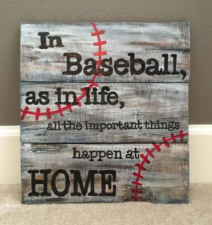 Burlap & Boards pallet baseball sign
