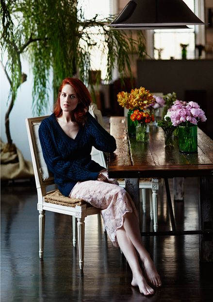 Taylor Tomasi Hill in Proenza Schouler sweater, Karla Spetic skirt   The Interview   The Edit   August 2014