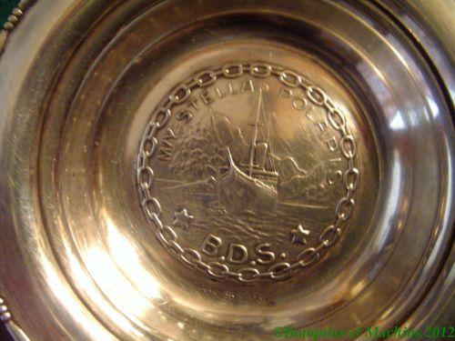 Coupelle en argent Yacht Norvégien M/Y STELLA POLARIS Gorgeous Silver nut bowl