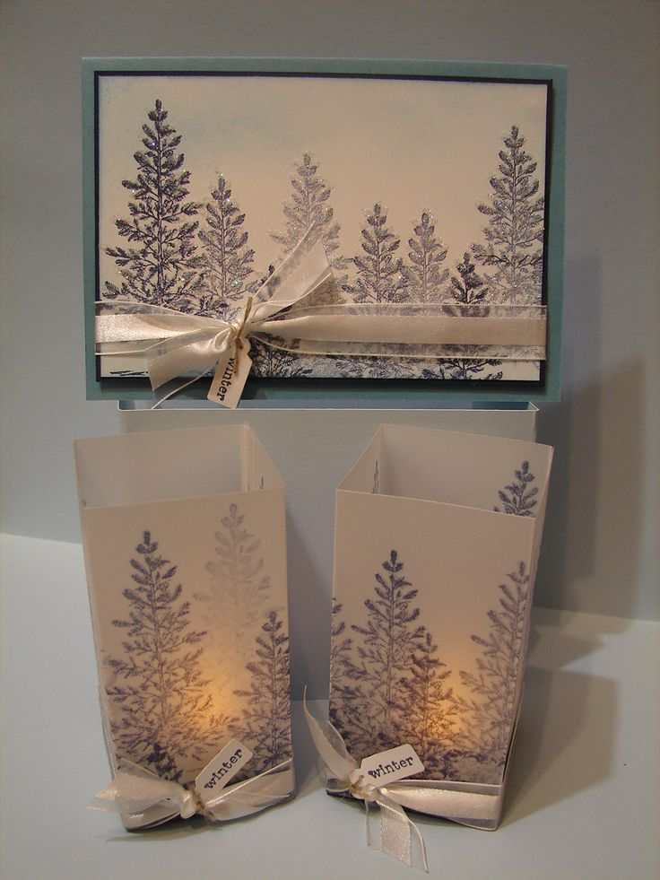 Love this card and matching luminary using SU Lovely as a Tree.