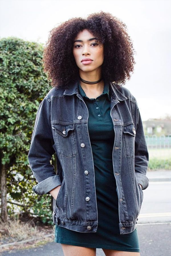vestido polo jaqueta jeans