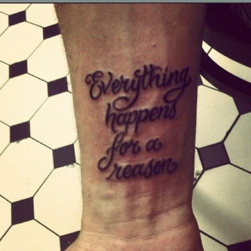 De 24 bsta tattoos bilderna p pinterest everything happen for reason quote tattoo i want it badddd urmus Image collections