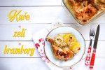 Kuře zelí brambory – recept z jednoho pekáčku