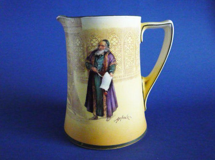 Royal Doulton Shakespearean Series 'Shylock' Corinth Jug D3746 c1915
