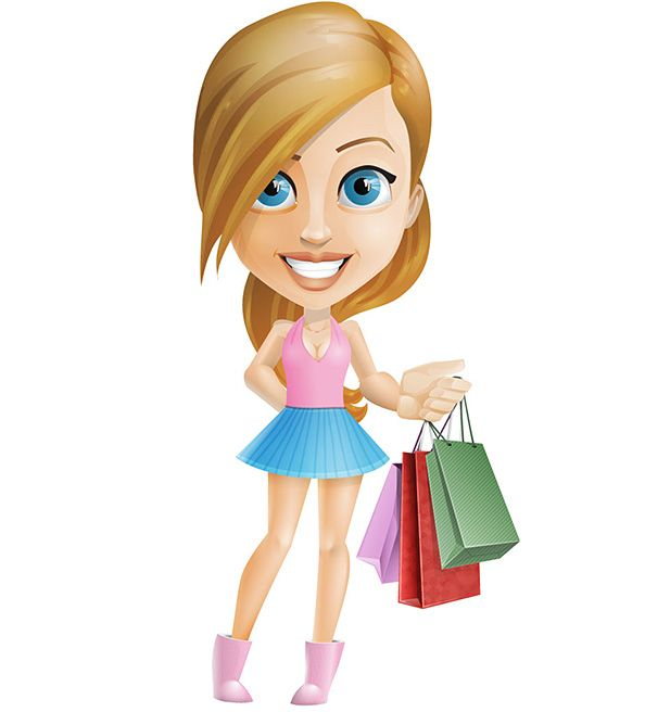 A Cartoon Character Girl : Best free vector characters images on pinterest
