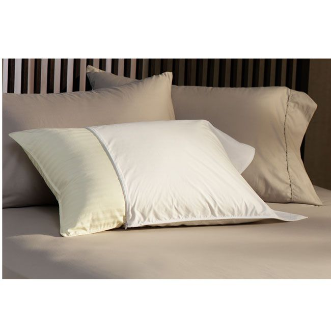 Care for your bedroom pillows with these soft cotton pillow protectors, ideal for complementing both traditional and modern decors. Made from 230-thread-count cotton, these machine-washable covers will cradle your head in comfort all night long.