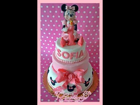 Tutorial Topolina in pasta di zucchero Minnie cake topper sugar paste - YouTube