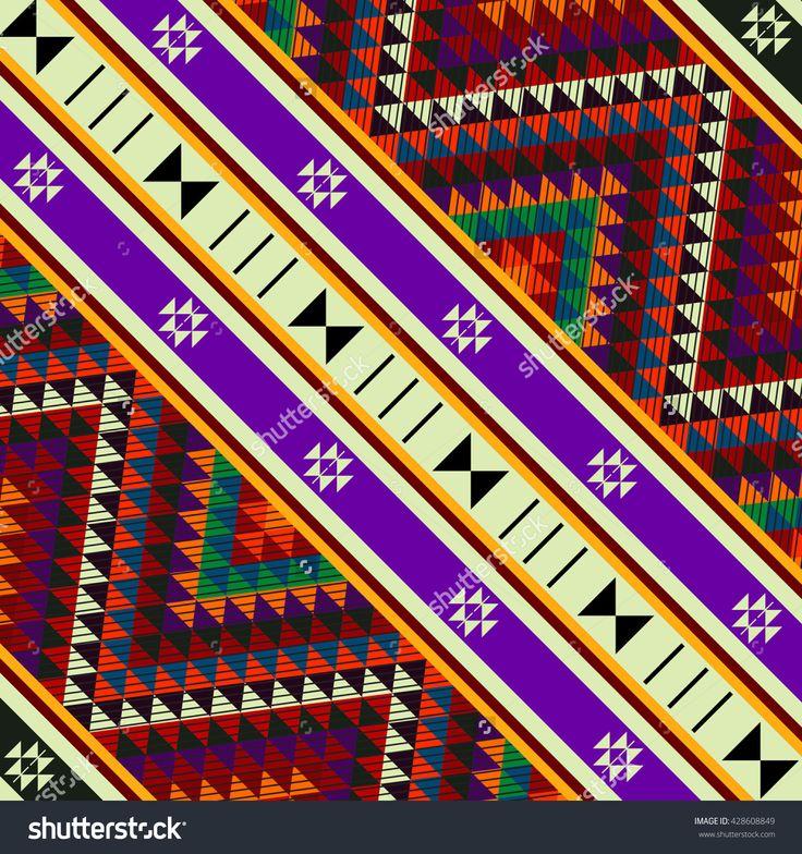 Decorative Sadu Rug Patterns Tile Image ID:428608849 Copyright: Craitza DOWNLOAD: http://www.shutterstock.com/pic-428608849/stock-vector-decorative-sadu-rug-patterns-tile.html?rid=501709