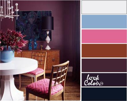 Сочетание цветов фиолетовый. Баклажановый