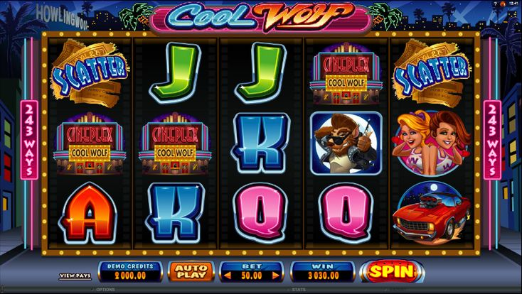The Cool Wolf slot by Microgaming is a 243-payline slot that plays like a 50 line slot machine, which means players need to play all lines. The slot offers an exciting free spins bonus with Rolling Reels.