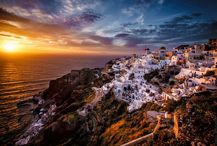 """Photo """"golden hour oia"""" by helen sotiriadis"""