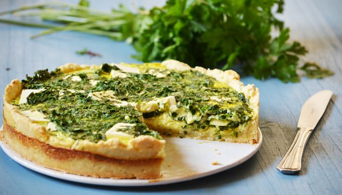 Parsley-zuchini quiche