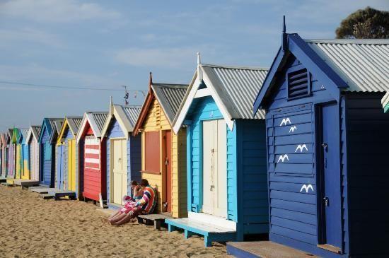 #Melbourne #Australia: Brighton Beach #travel #inspiration