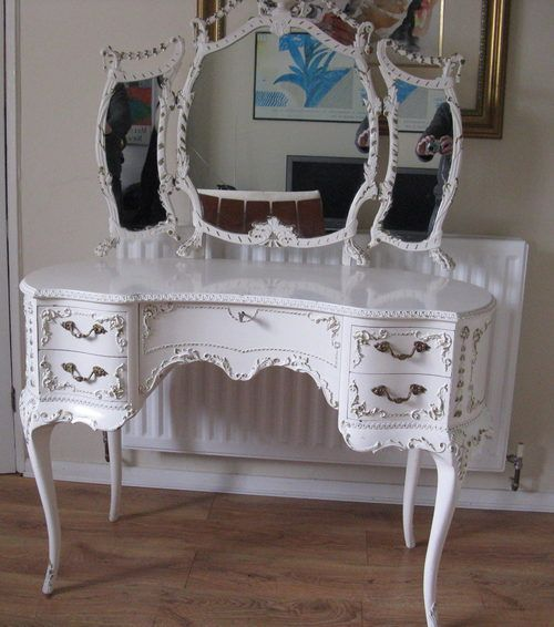 | ... vintage bedroom antique furniture with its lovely french shabby chic - how cute for a spare room!