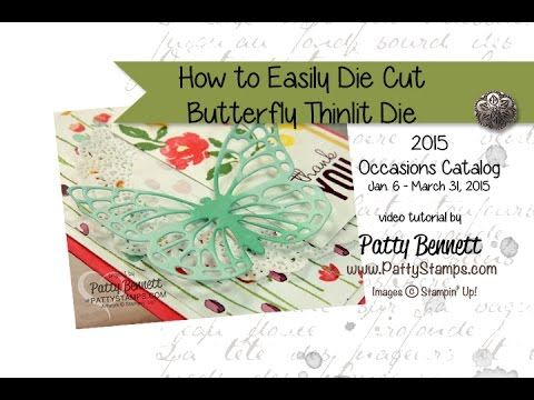 How to Easily Die Cut Butterflies Thinlits from Stampin' Up!