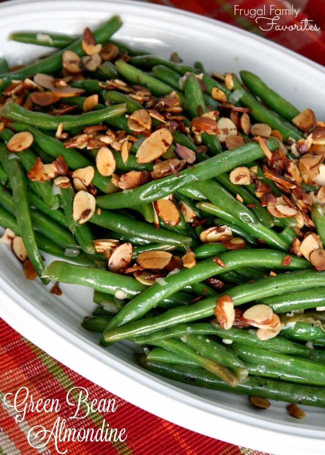 An easy, classic side dish! Green Beans Almondine pairs perfectly with any main dish and looks fancy despite being one of the easiest green bean recipes ever. Serve with Marie Callender's Pot Pie for a simple weeknight meal. #ad #PotPiePlease