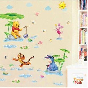 Epic Sale New Diy Wall Kindergarten Children Room Background Stickers Wallpaper Winnie Pooh