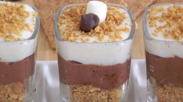 smores cheesecake dessert shooters: Desserts, S Mores Cheesecake, Recipe, Cheesecake Shot, Food, Dessert Shooters, Smores Cheesecake