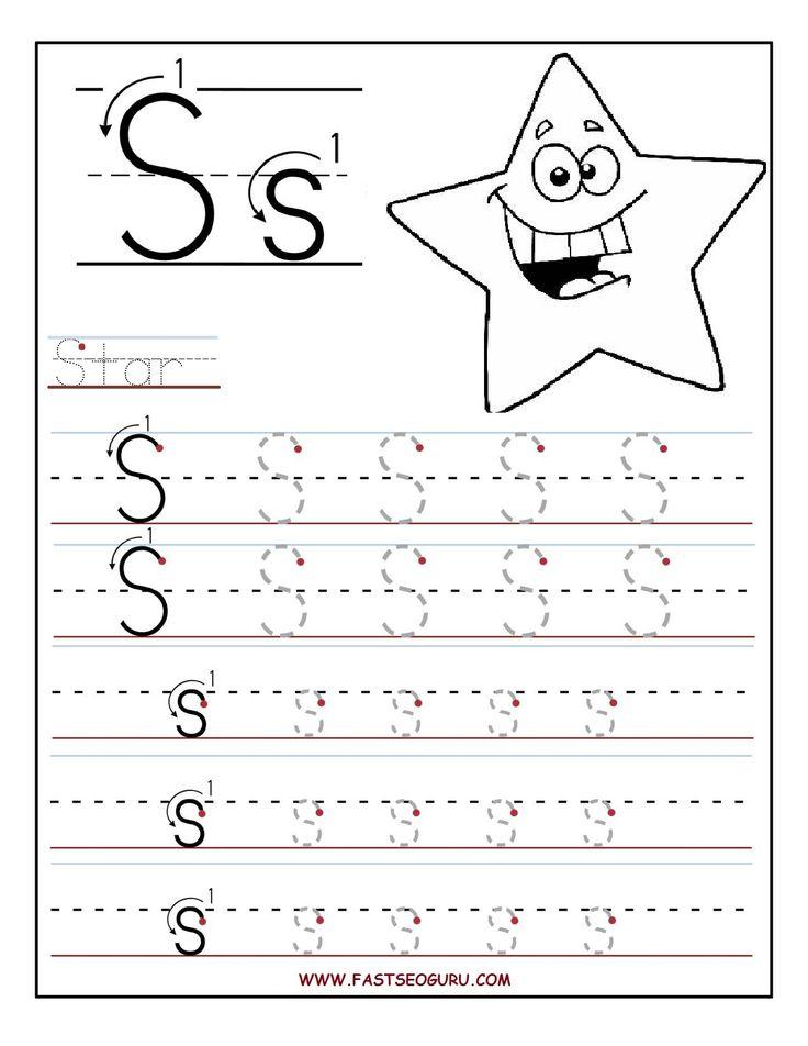printable letter s tracing worksheets for preschool for the kidlets preschool writing. Black Bedroom Furniture Sets. Home Design Ideas