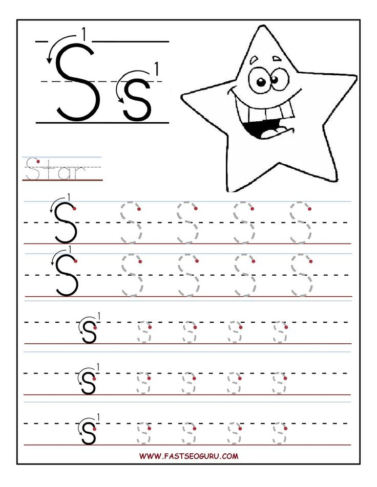 Four corners writing activity for preschoolers