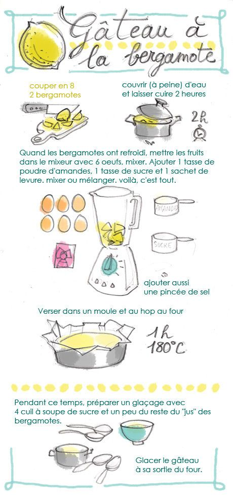 gâteau à la bergamote