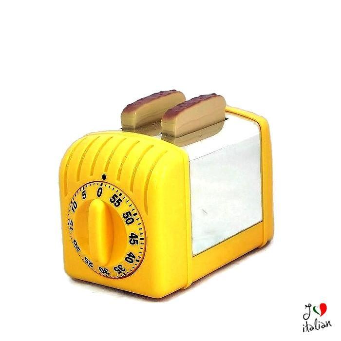 Yellow timer mini toaster - €12.90