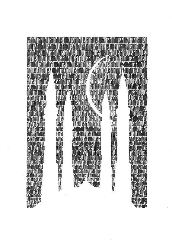 IstambulTypographic Art Print by Yantree on Etsy, $31.00