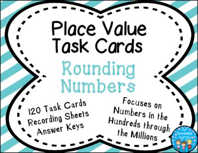 Place Value Task Cards Rounding Numbers from Our Wonderful Journey on TeachersNotebook.com (42 pages)