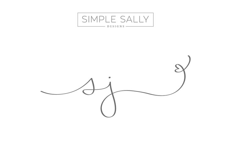 sj initials by SIMPLE SALLY | #initials  #logo #simplesally