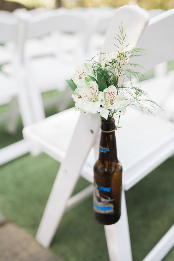 This picture perfect day at The Stone Brewery in Escondido, California offers tons of inspiration for a beer-themed wedding. Photos by: Studio Sequoia, Coordinated by: Day of Love #beerthemedwedding #StoneBrewweddings #southernCaliforniawedding #Springwedding