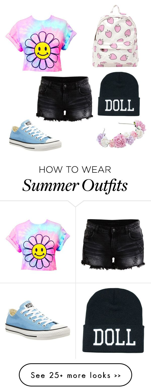 """Pastel goth summer outfit"" by musicislife166 on Polyvore"