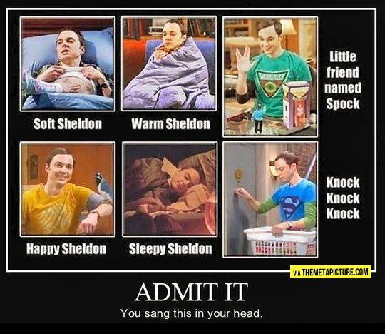 Soft Sheldon, warm Sheldon...