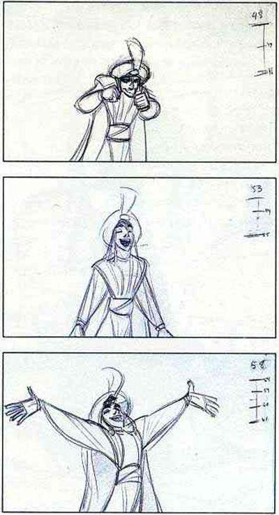 Aladdin(1992) Key animation
