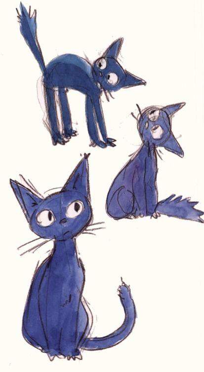 Studio Ghibli concept art sketch for Kiki's Delivery Service