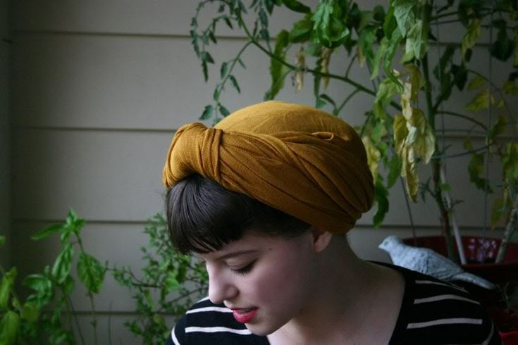 How to make a vintage scarf turbany thing (my descriptive prowess amazes even me sometimes)
