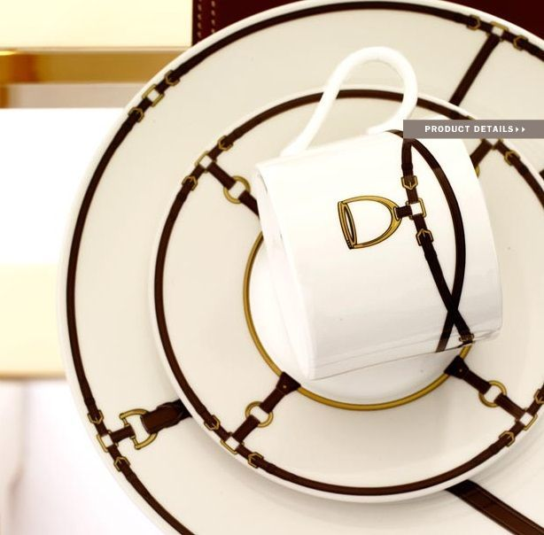 ralph lauren modern equestrian style decor | Ralph Lauren Home #Modern_Equestrian Collection 5 - Tableware