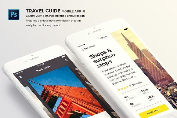 Travel Guide Mobile App UI by Tap-Tap design on @creativemarket