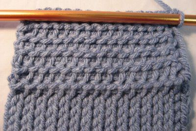 Tunisian crochet purl stitch - softer than the basic stitch  . . . .   ღTrish W ~ http://www.pinterest.com/trishw/  . . . .