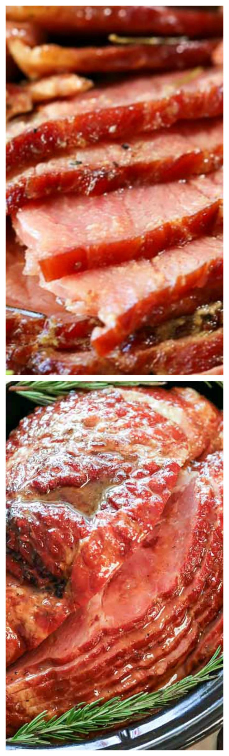 Easy Crock Pot Ham ~ The perfect holiday ham recipe... The result is a tender and juicy crock pot ham that your family will absolutely love!