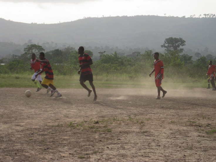 Easter Sunday football fixture in Kitikpa, the married men v the unmarried!! The whole village turns out to watch and cheer. This year the unmarrieds won 5:1!!!