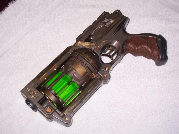 "nerf maverick mod with ""plasma"" cartridges. Steampunk Gun Mod - Mad Scientist Version (pic heavy)"
