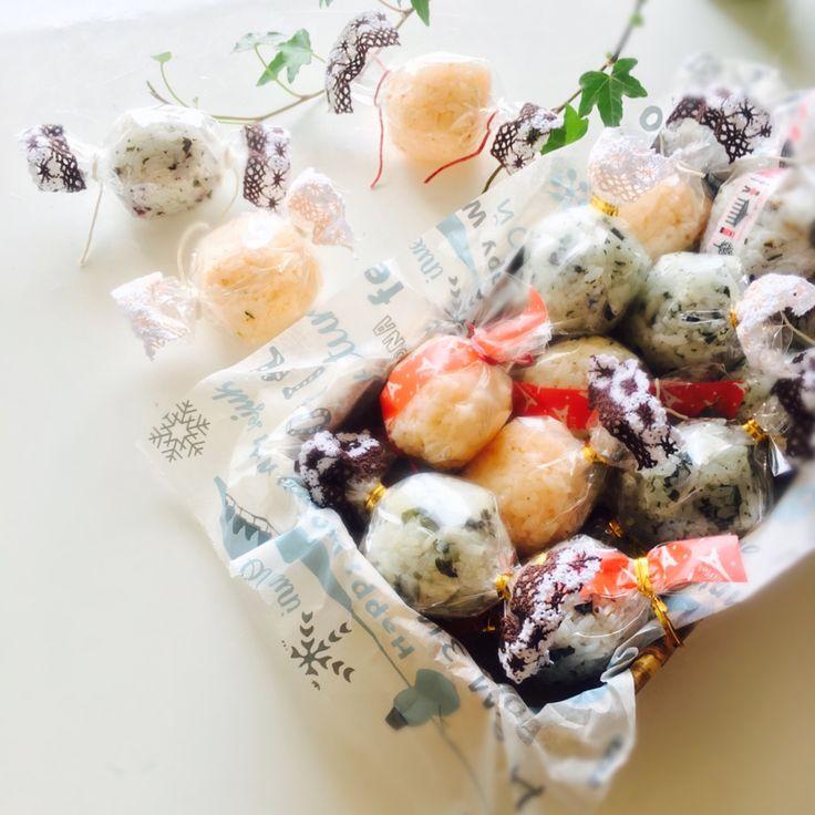 usako's dish photo 運動会のお弁当      キャンディラップおにぎり | http://snapdish.co #SnapDish #レシピ #お弁当 #キャラ弁 #お昼ご飯 #キャラクター #運動会