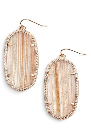 Kendra Scott 'Danielle - Large' Oval Statement Earrings available at #Nordstrom