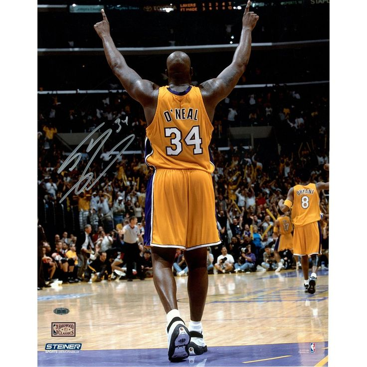 Shaquille ONeal Signed Arms Up in Gold Uniform 16x20 (Signed in Silver) - Lakers Legend Shaquille ONeal personally hand-signed this 16x20 Photo. Shaq was without question one of the most dominant players of his generation. After being selected 1st overall by the Orlando Magic in the 1992 NBA Draft ONeal won the Rookie of the Year Award in his first season. Over the course of his illustrious career ONeal went on to be a 3x NBA Finals MVP a 15x All-Star 3x All-Star MVP and had his number…