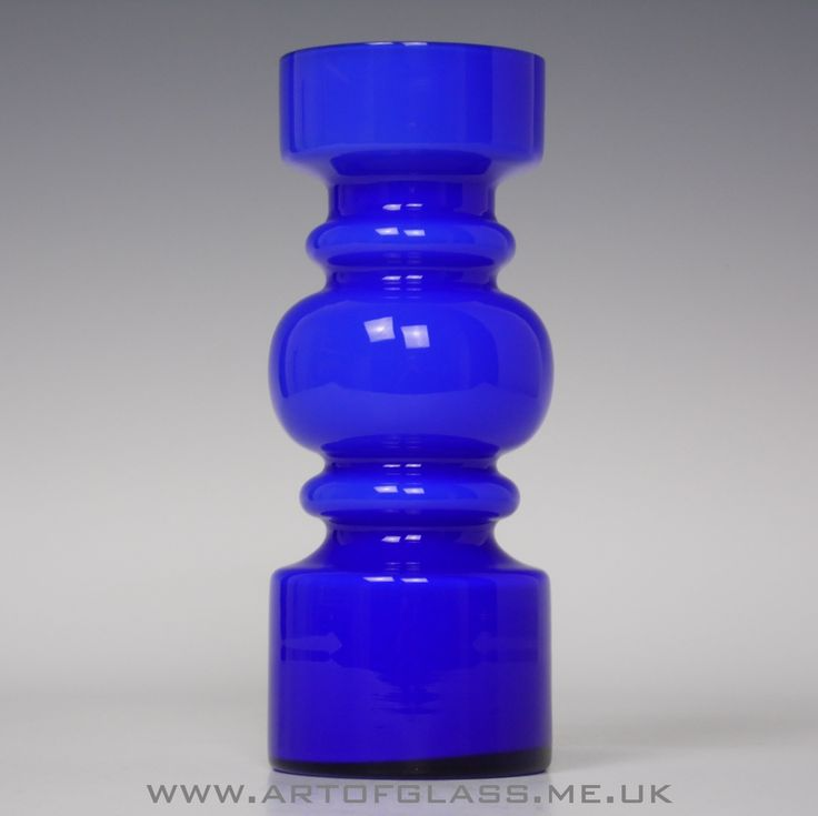 Lindshammar cobalt blue glass vase