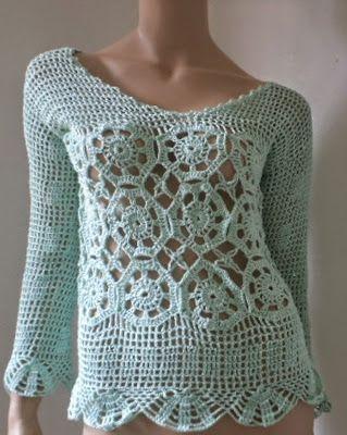 CrochetEMais: Blusas de crochê entregues
