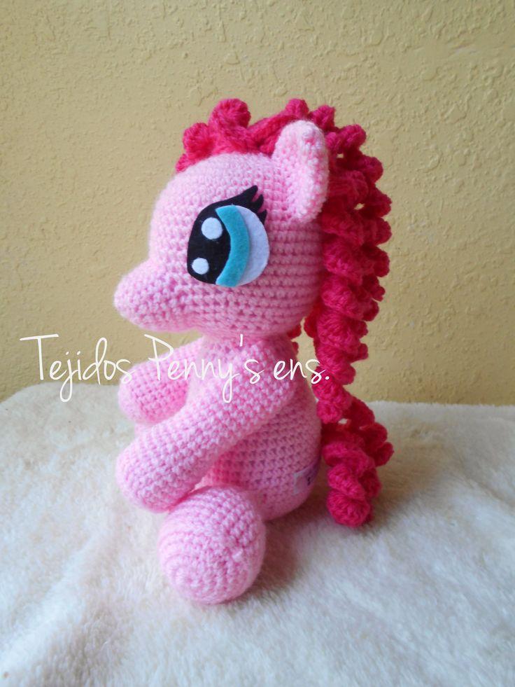 Muñeco Pinkie Pie sobre pedido, directamente a la pagina de tejidos o por whatsapp al 6461964750  www.facebook.com/TejidosPennys