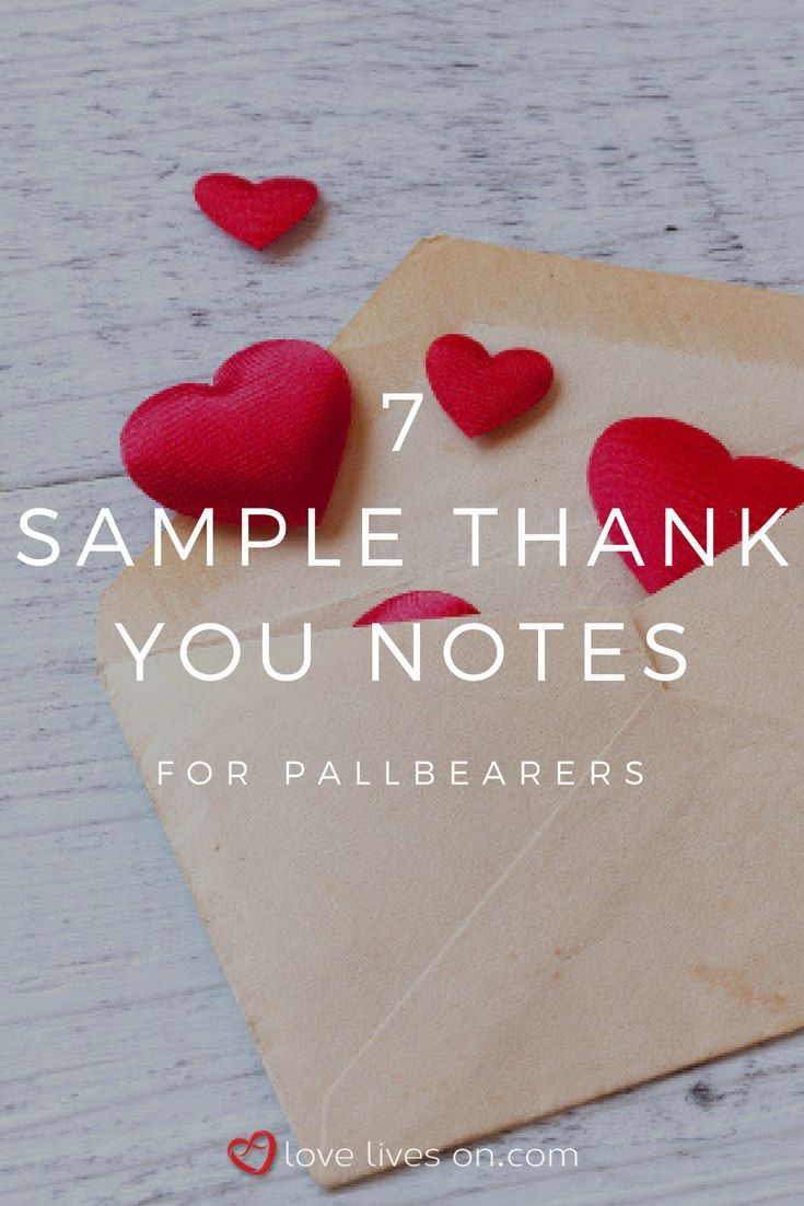writing wedding thank you notes for cash%0A   Sample Thank You Notes for Pallbearers